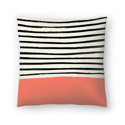 Americanflat Coral by Leah Flores Throw Pillow