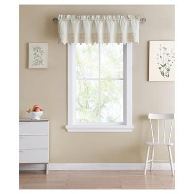 Jenna Window Valance Ivory (60 x14 )- VCNY Home®