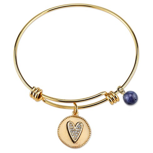 """Women's Stainless Steel Friend Expandable Bracelet - gold (8"""") - image 1 of 2"""