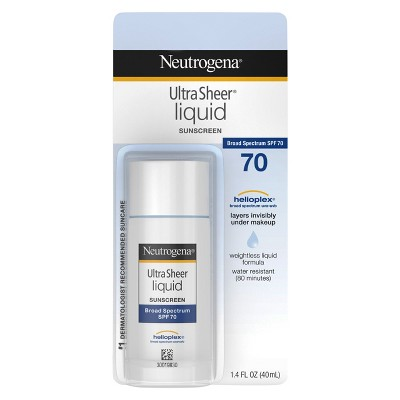 Sunscreen & Tanning: Neutrogena Ultra Sheer Liquid