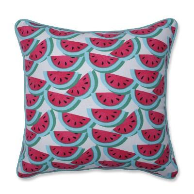 Watermelon Fuchsia Mini Square Throw Pillow - Pillow Perfect