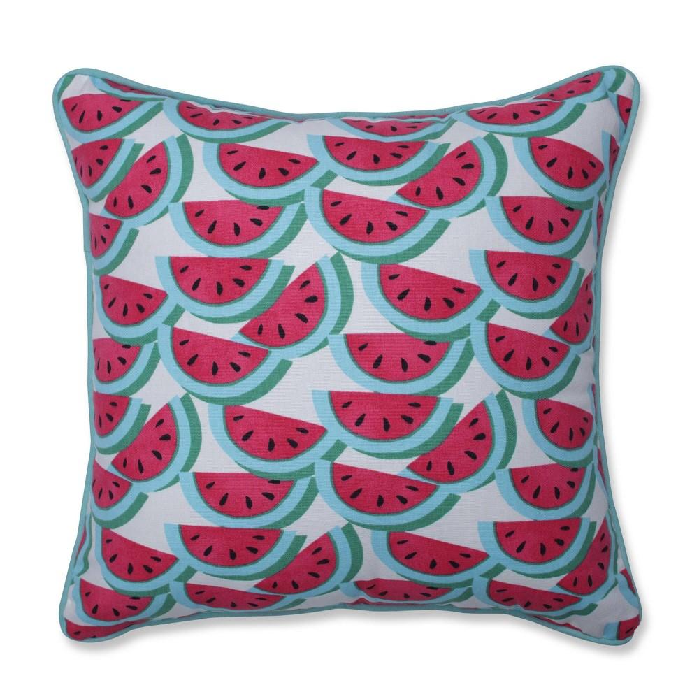 Watermelon Fuchsia Mini Square Throw Pillow Pillow Perfect