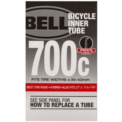 """Bell 700c/28"""" Standard Bike Inner Tube - Black"""