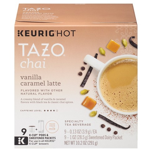 Tazo® Vanilla Caramel latte Flavored Tea - K-Cup Pods - 9ct - image 1 of 4
