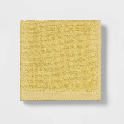 Everyday Solid Washcloth Yellow - Room Essentials™