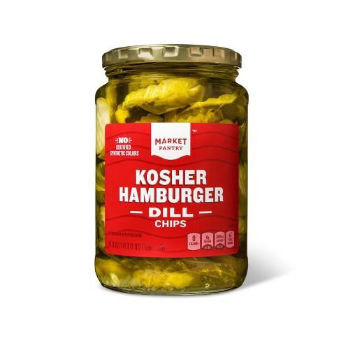Kosher Hamburger Dill Chips - 24oz - Market Pantry™ - image 1 of 2