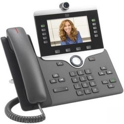 Cisco 8845 IP Phone - Wall Mountable - Charcoal - VoIP - Caller ID - SpeakerphoneEnhanced User Connect License - 2 x Network (RJ-45) - PoE Ports - image 1 of 1