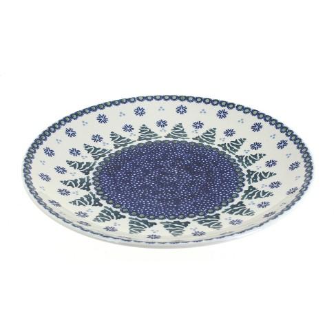 Blue Rose Polish Pottery Festive Fir Dinner Plate - image 1 of 1