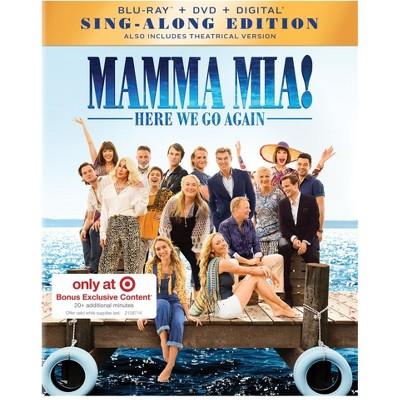 Mamma Mia! Here We Go Again Movies (Target Exclusive)(Blu-Ray + DVD + Digital)
