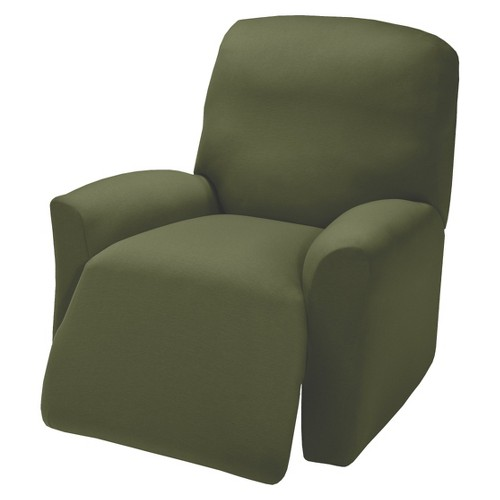 Forest Jersey Large Recliner Slipcover - Madison Industries, Green