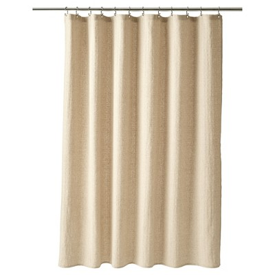 Basketweave Shower Curtain Linen - Fieldcrest®