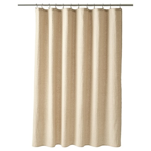 Basketweave Shower Curtain Linen - Fieldcrest® - image 1 of 1