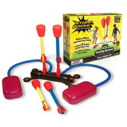 Stomp Rocket Dueling Super High Flying Rockets with Launch Pad