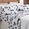 Great Bay Home 100% Cotton Flannel Lodge Printed Sheet Set - image 2 of 4