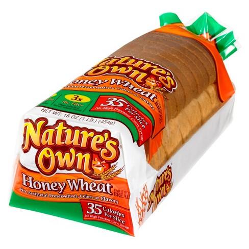 Natures Own Light Honey Wheat 16 Oz