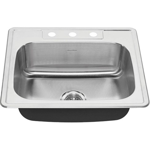 """American Standard 22SB.6252283S Colony 25"""" Single Basin Stainless Steel Kitchen Sink for Drop In Installations - image 1 of 4"""