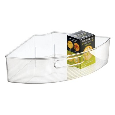 iDESIGN Linus 1/4 Wedge Lazy Susan Large Clear