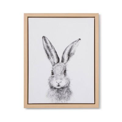 11x14 Framed Canvas Bunny - Cloud Island™