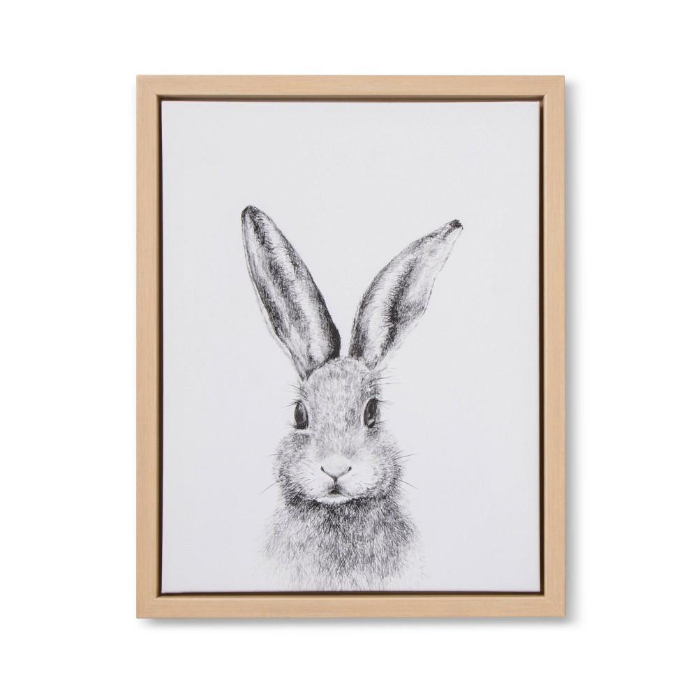 Image of 11x14 Framed Canvas Bunny - Cloud Island