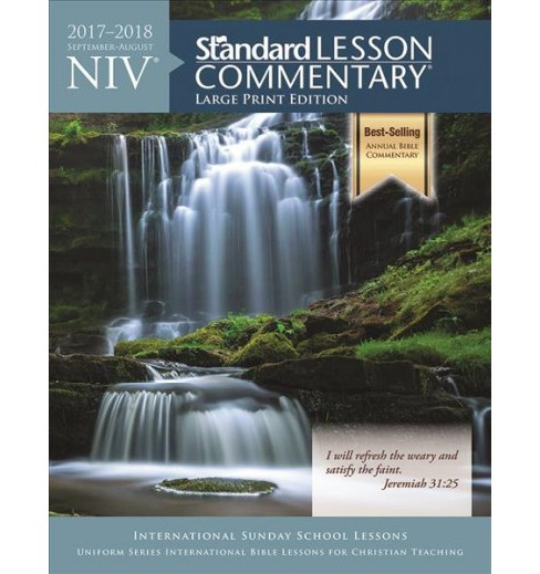 NIV Standard Lesson Commentary 2017-2018 : September-august (Vol 24) (Large Print) (Paperback) - image 1 of 1