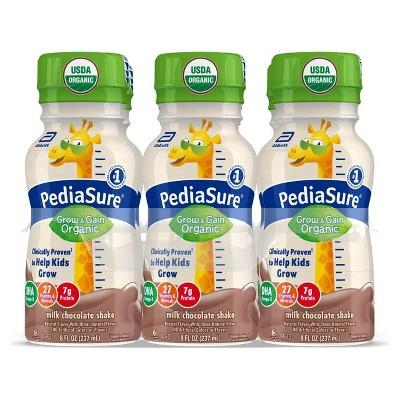 PediaSure Organic Kids Nutritional Chocolate Shake - 6ct/48 fl oz Each