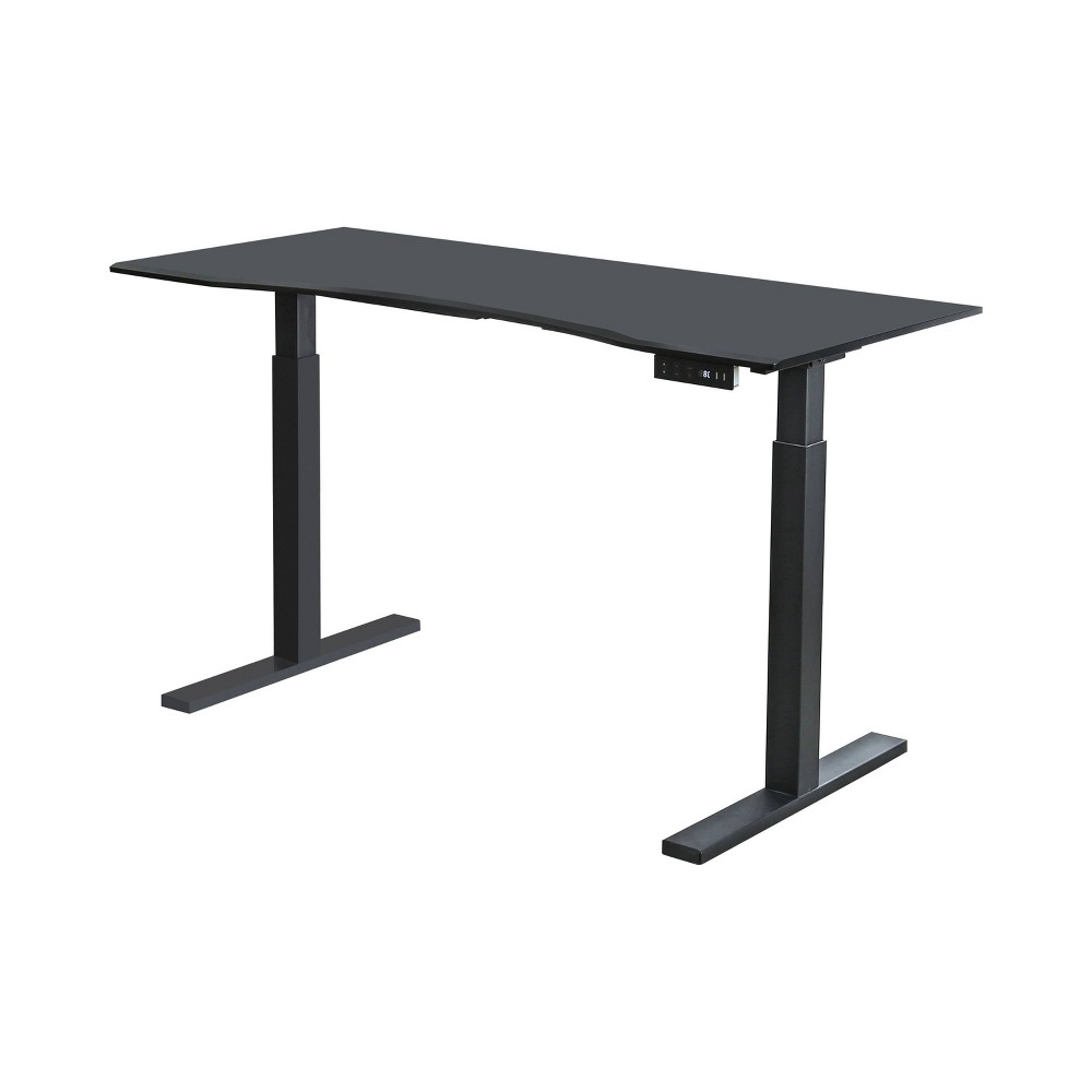 Baron Contemporary Adjustable Office Stand Up Table Large Black - Homes: Inside + Out
