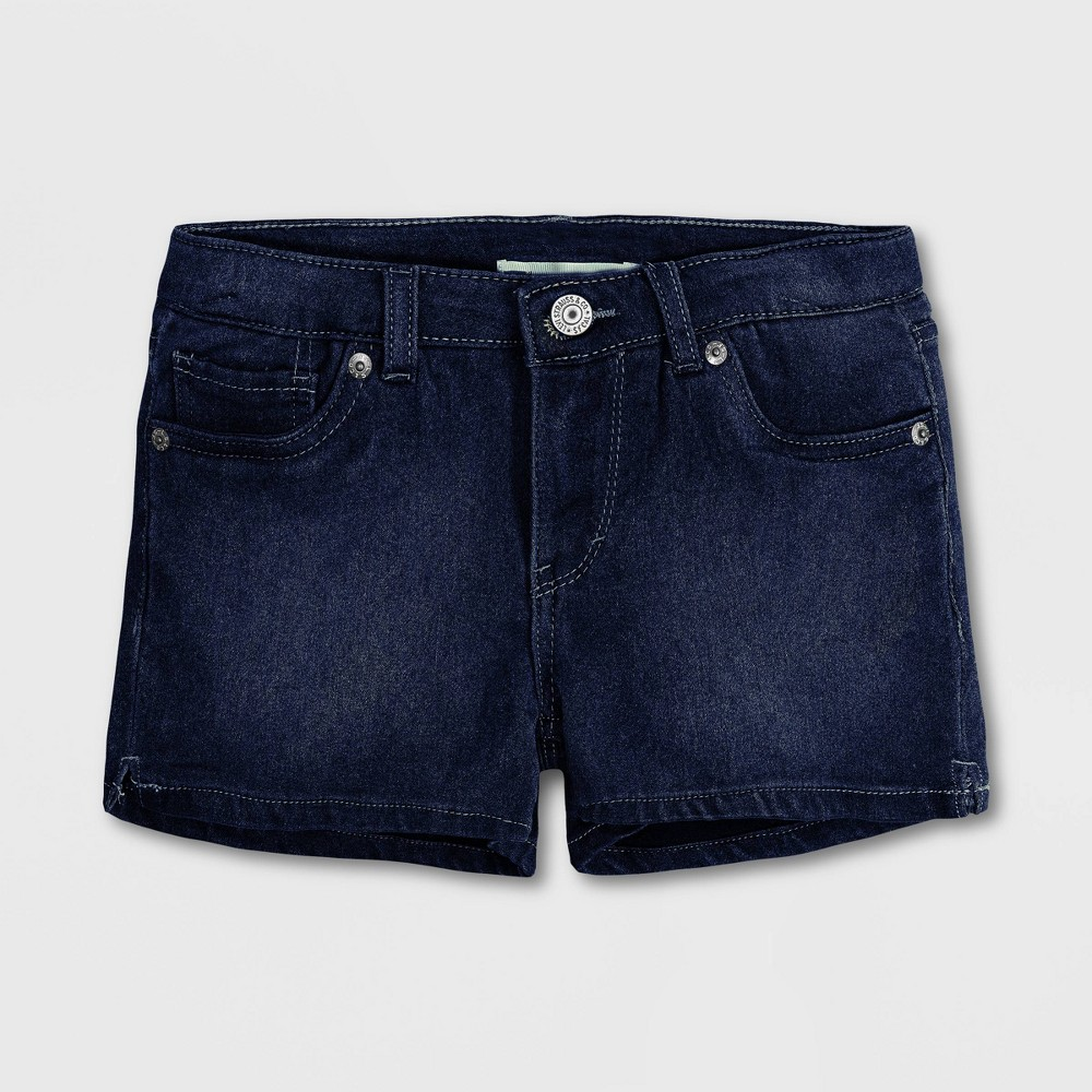 Levi 39 S 174 Girls 39 Jean Shorts Dark Indigo Wash 5