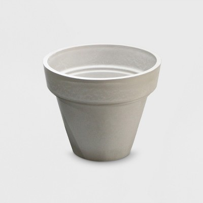 12  Recycled Double Lip Planter Gray - Smith & Hawken™