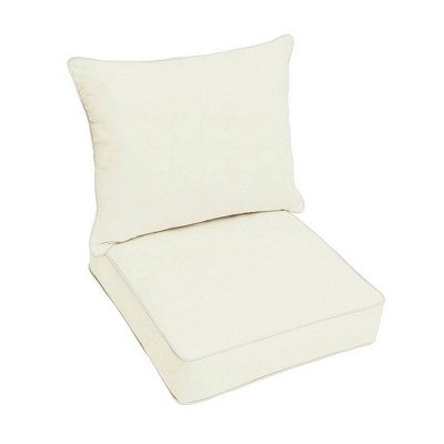 Sunbrella Canvas Outdoor Seat Cushion Ivory