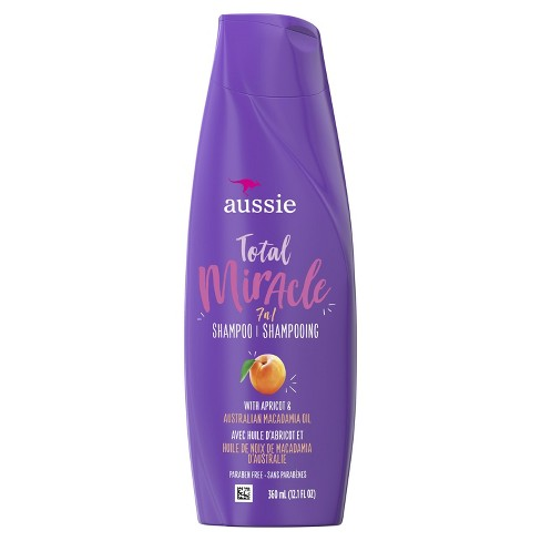 Aussie Paraben-Free Total Miracle Shampoo with Apricot & Macadamia For Hair Damage - 12.1 fl oz - image 1 of 2