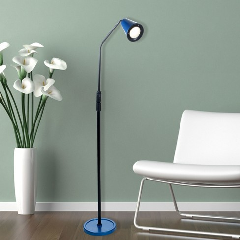 LED Flexible Adjustable 5 foot Floor Lamp Blue by Lavish Home - image 1 of 4