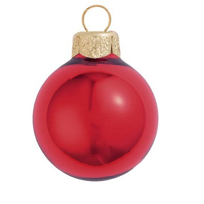 "Northlight 6ct Shiny Red Glass Ball Christmas Ornaments 4"" (101mm)"