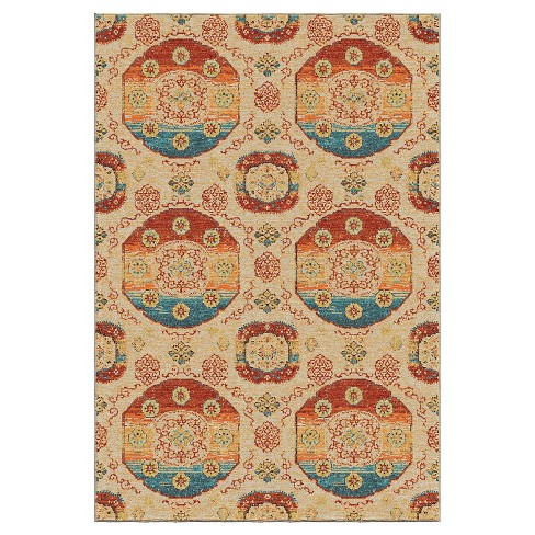 """Beige Solid Woven Area Rug - (5'3""""X7'6"""") - Orian - image 1 of 4"""