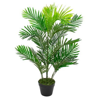 Northlight 3.3' Unlit Artificial Potted Two Tone Tropical Mini Palm Tree