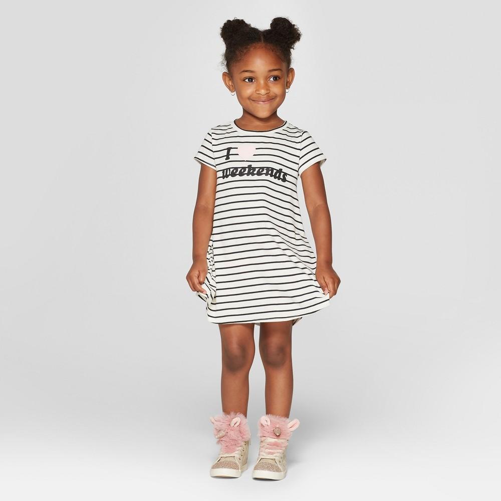 Grayson Mini Toddler Girls' Stripe Dress - White 2T, Beige
