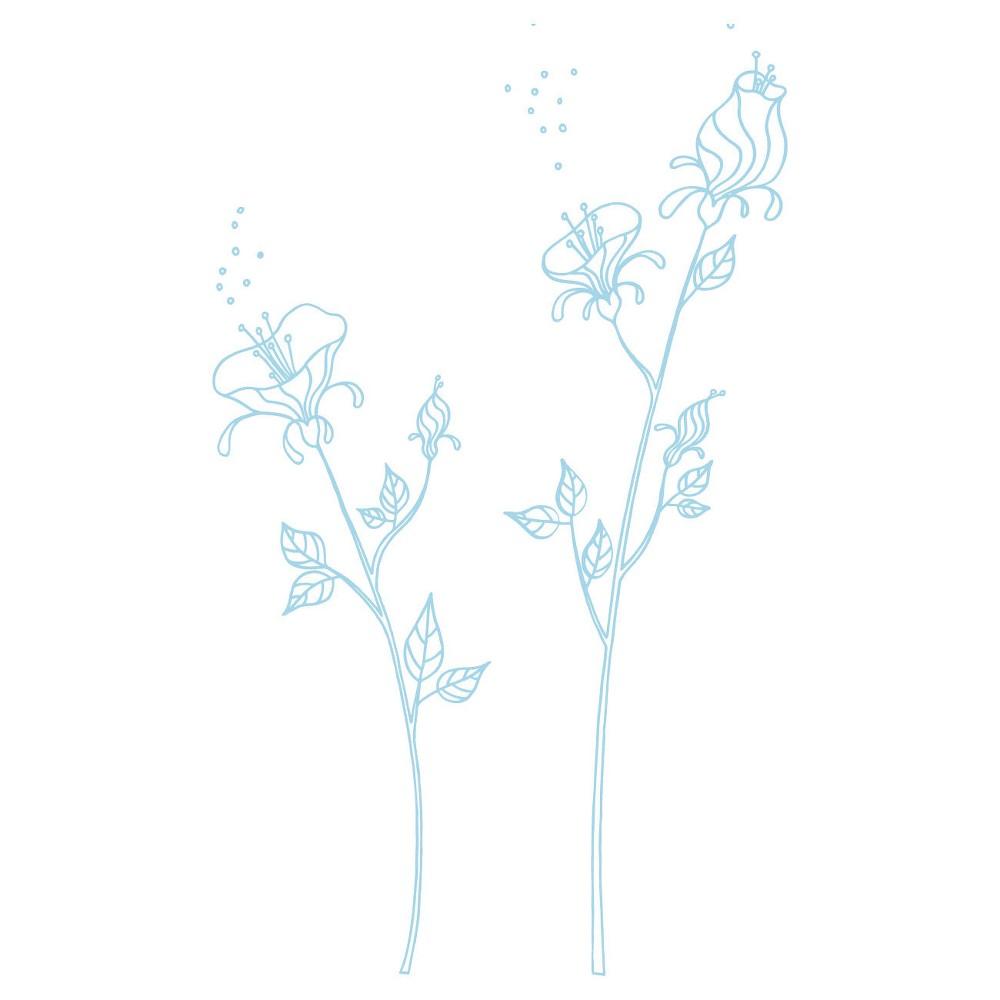 Blue Pollen Wall Decal, Active Aqua I