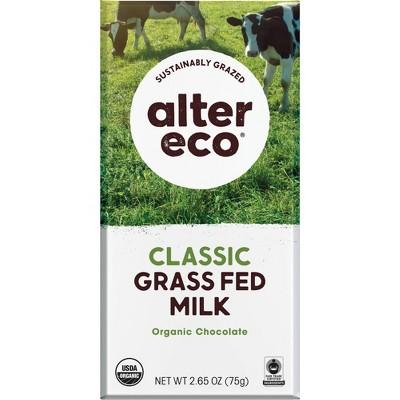 Alter Eco Chocolate Bar - Grass Fed Classic Milk - 2.65oz