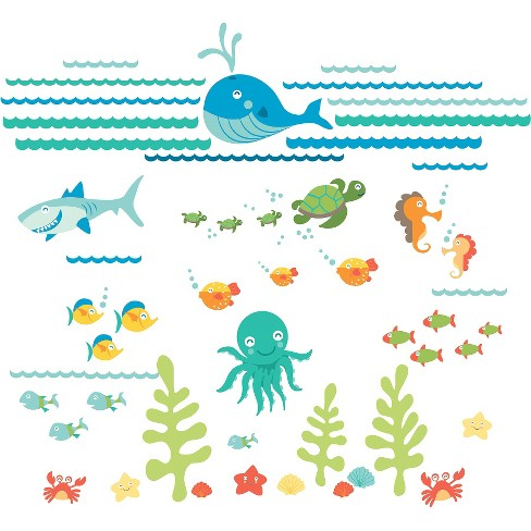 WallPops!® Under The Sea Applique Kit - image 1 of 2