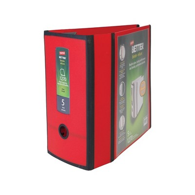 Staples Better 5-inch 3 Ring View Binder Red 1618004