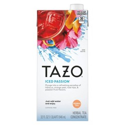 Tazo Iced Passion Tea Concentrate - 32 fl oz
