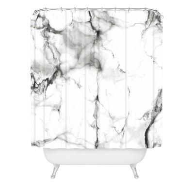 Chelsea Victoria Gray Shower Curtain Black - Deny Designs