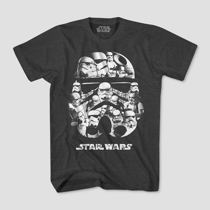 Boys' Star Wars Stormtrooper Short Sleeve T-Shirt - Charcoal Heather - image 1 of 1