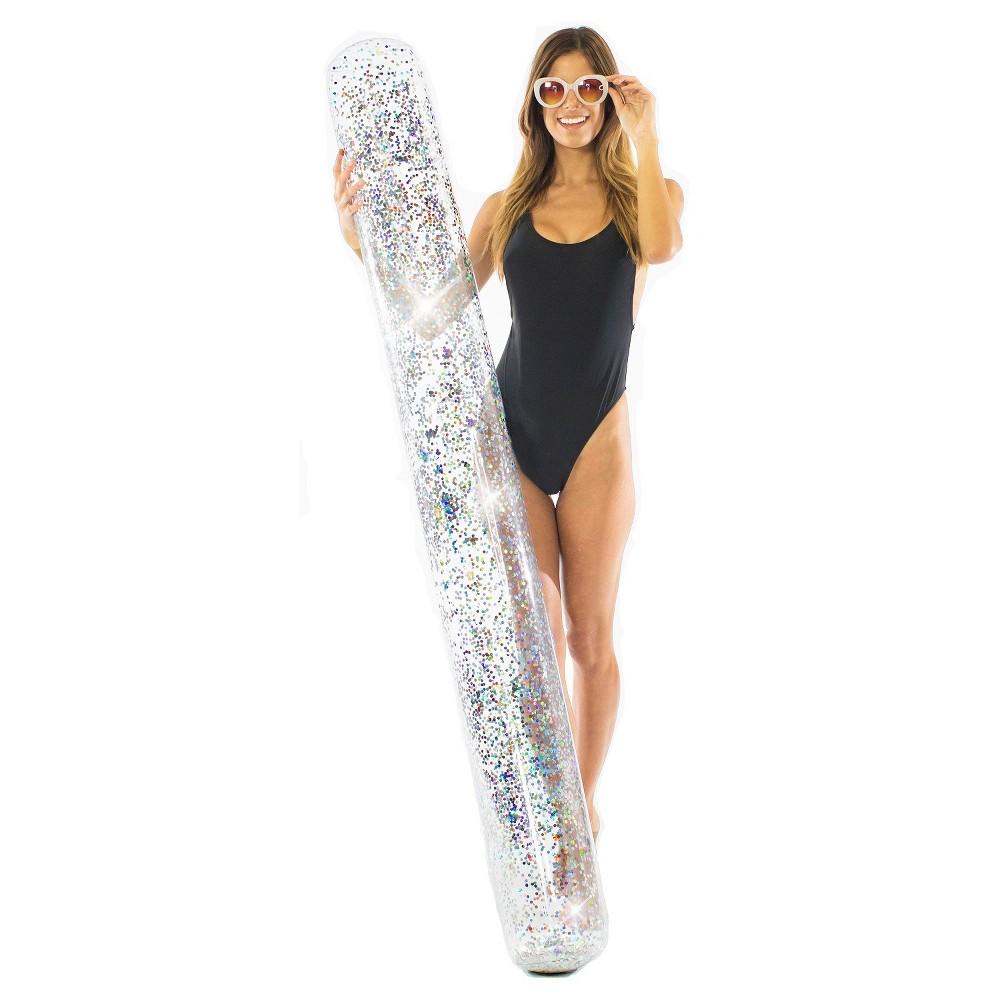 PoolCandy Confetti Glitter Pool Noodle - Silver