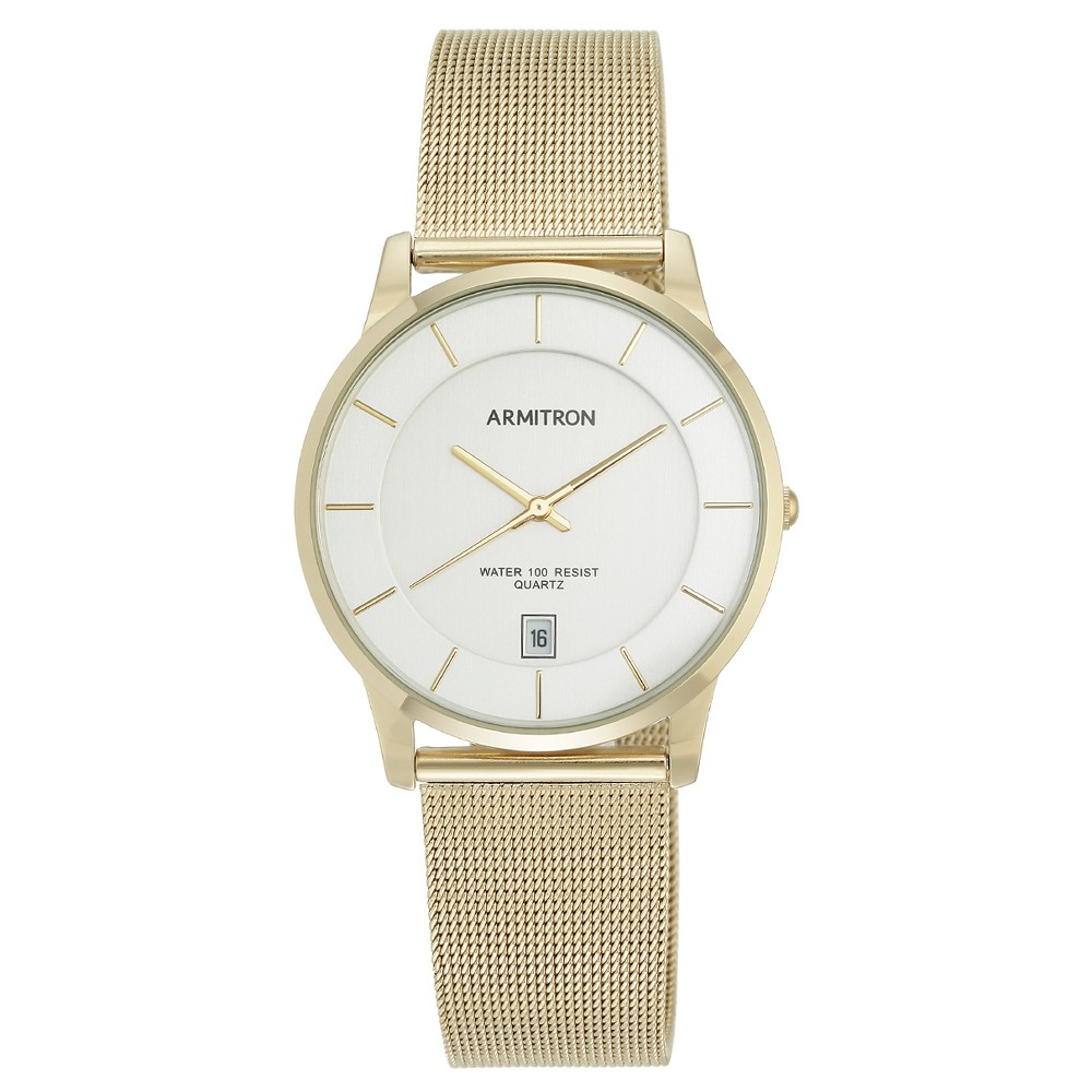 Image of Armitron Men's Mesh Bracelet Watch - Gold, Men's, Size: Small