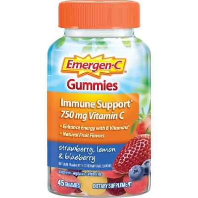Emergen-C Vitamin C Gummies - Strawberry, Lemon & Blueberry - 45ct
