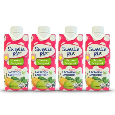 Sweetie Pie Organics Lactation Smoothie - 4pk