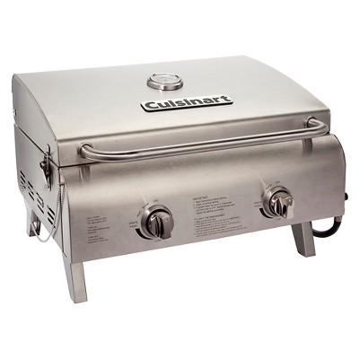 Cuisinart® Professional Portable Two Burner Gas Grill - Silver