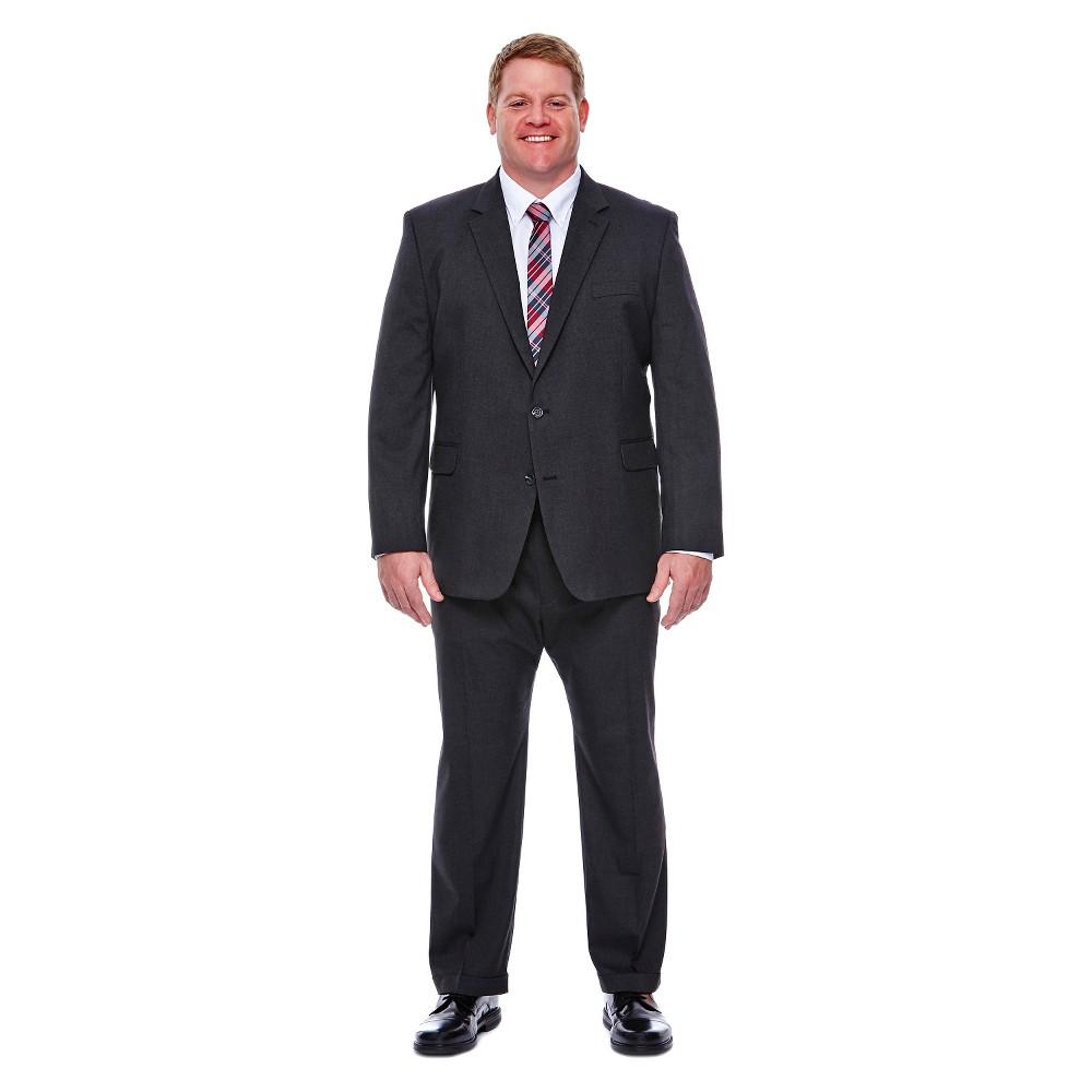 Haggar H26 - Men's Big & Tall Classic Fit Stretch Suit Jacket Charcoal (Grey) 56L, Size: 56 Long