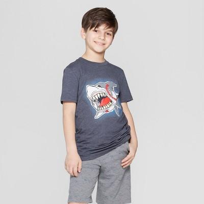 de03c7c451a73 Boys  Baseball Shark Short Sleeve Graphic T-Shirt - Cat   Jack™ Navy