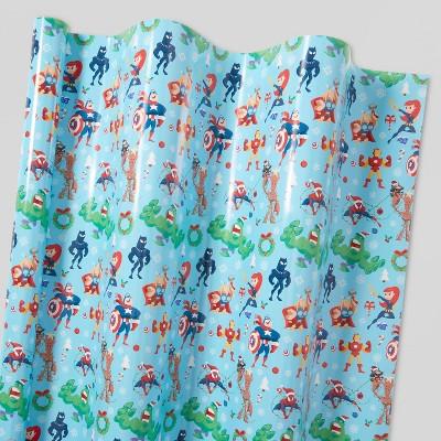 30in 40 sq ft Avengers Gift Wrap Blue - Wondershop™
